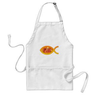 私はキリストのための火-キリスト教の魚の記号にあります スタンダードエプロン