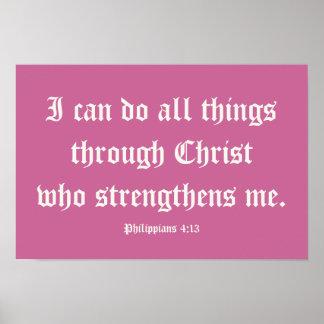 私はキリストを通してすべての事をしてもいいです。 ポスター