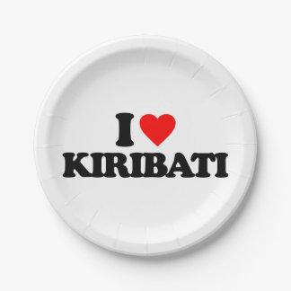 私はキリバス共和国を愛します ペーパープレート