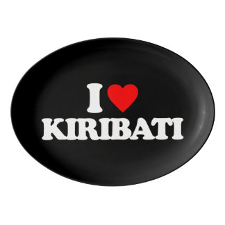 私はキリバス共和国を愛します 磁器大皿