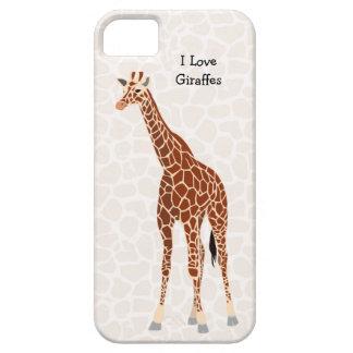 私はキリンの野生のサファリの動物園動物の名前をカスタムするを愛します iPhone SE/5/5s ケース
