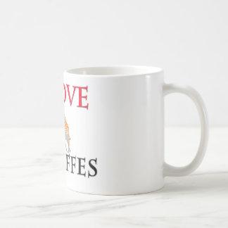 私はキリンを愛します コーヒーマグカップ