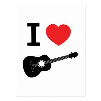 私はギターを愛します ポストカード