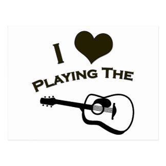私はギターを演奏することを愛します ポストカード