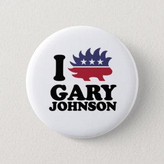 私はギャリージョンソン-自由意志論者愛します- -を 5.7CM 丸型バッジ