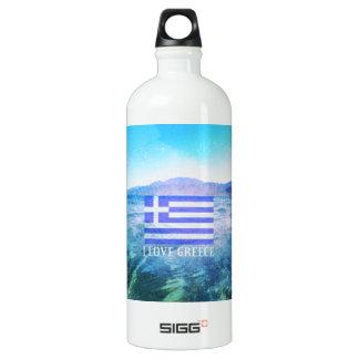 私はギリシャを愛します ウォーターボトル