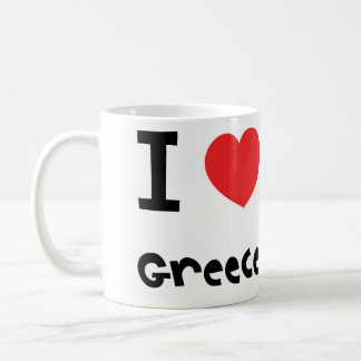 私はギリシャを愛します コーヒーマグカップ