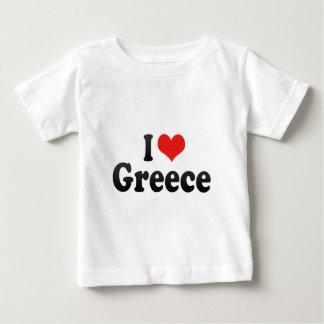 私はギリシャを愛します ベビーTシャツ