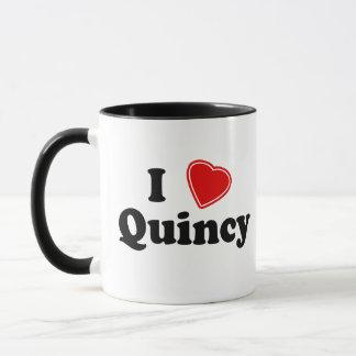 私はクインシーを愛します マグカップ