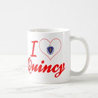 私はクインシー、マサチューセッツを愛します コーヒーマグカップ