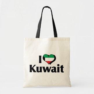 私はクウェートの旗を愛します トートバッグ