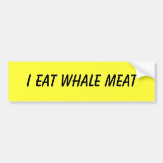 私はクジラ肉を食べます バンパーステッカー