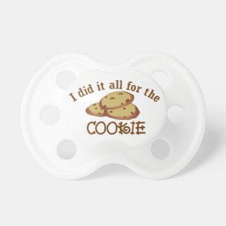 私はクッキーのためのそれをすべてしました おしゃぶり