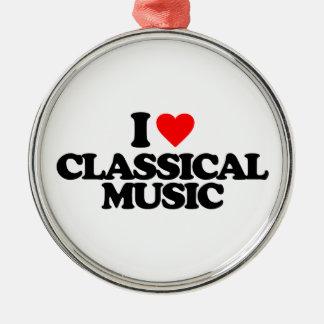 私はクラシック音楽を愛します メタルオーナメント