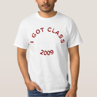 私はクラスの2009年のTシャツを得ました Tシャツ