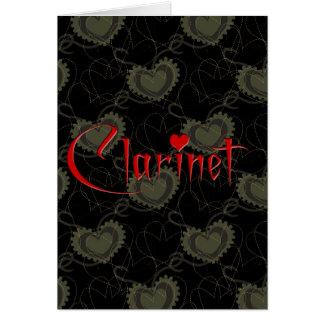 私はクラリネットを愛します グリーティングカード