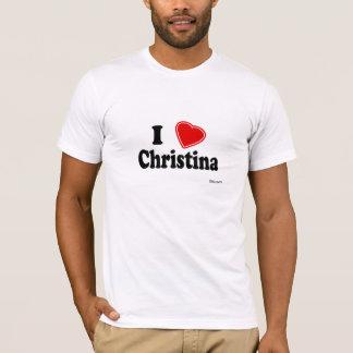 私はクリスティーナを愛します Tシャツ