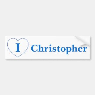 私はクリストファーを愛します バンパーステッカー