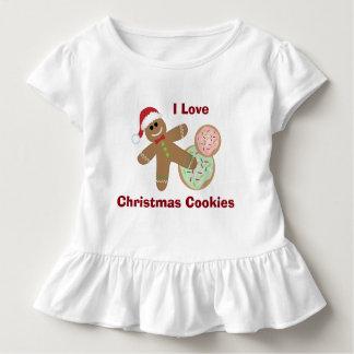 私はクリスマスのクッキー、ジンジャーブレッドの幼児を愛します トドラーTシャツ