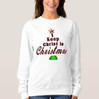 私はクリスマスのユニークな休日のセーターのキリストを保ちます スウェットシャツ