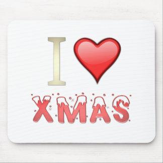 私はクリスマスを愛します マウスパッド