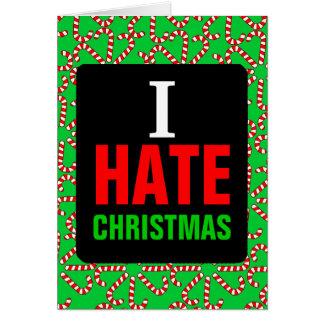 私はクリスマスを憎みます グリーティングカード