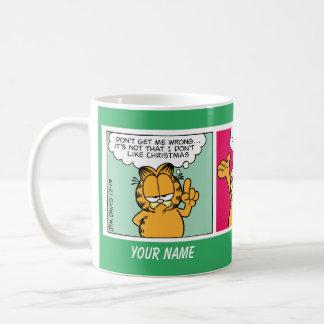 """""""私はクリスマス""""のガーフィールドの続きこま漫画のマグ愛します コーヒーマグカップ"""