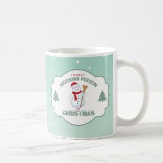 私はクリスマスMug2のただの朝人です コーヒーマグカップ