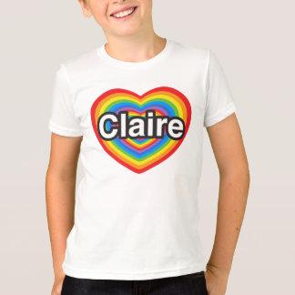 私はクレアを愛します。 私はクレア愛します。 ハート Tシャツ