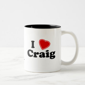 私はクレイグを愛します ツートーンマグカップ