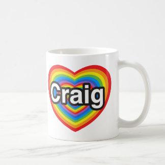 私はクレイグを愛します。 私はクレイグ愛します。 ハート コーヒーマグカップ