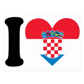 私はクロアチアを愛します はがき