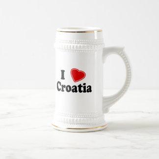 私はクロアチアを愛します ビールジョッキ