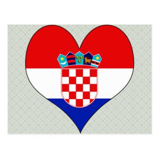 私はクロアチアを愛します ポストカード
