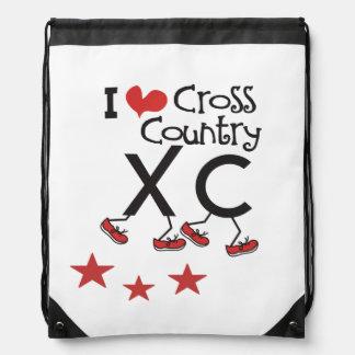 私はクロス・カントリーのランナーXCのドローストリングのバックパックを愛します ナップサック