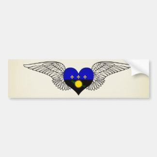 私はグアダループ-翼--を愛します バンパーステッカー