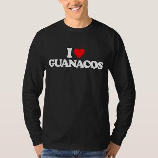 私はグアナコを愛します Tシャツ