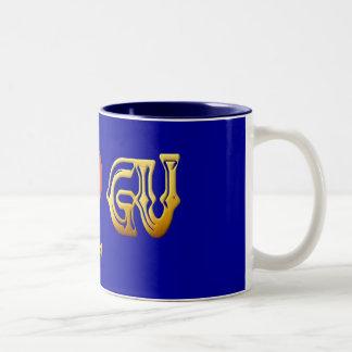 私はグアムのマグを愛します ツートーンマグカップ