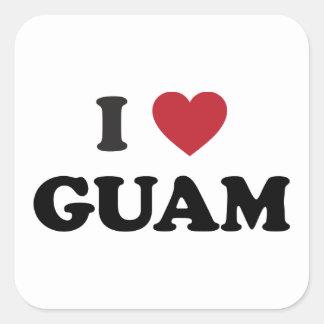 私はグアムを愛します スクエアシール