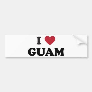 私はグアムを愛します バンパーステッカー