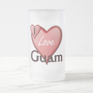 私はグアムを愛します フロストグラスビールジョッキ