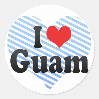 私はグアムを愛します ラウンドシール