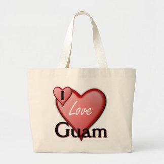 私はグアムを愛します ラージトートバッグ