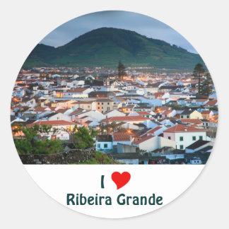 私はグランデRibeiraを愛します ラウンドシール