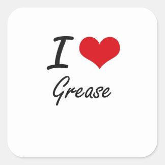 私はグリースを愛します スクエアシール