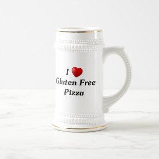 私はグルテンの自由なピザを愛します ビールジョッキ