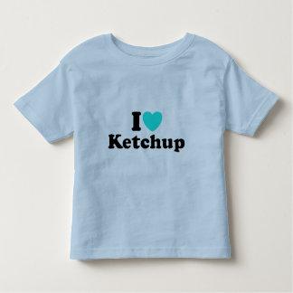 私はケチャップを愛します トドラーTシャツ