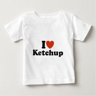 私はケチャップを愛します ベビーTシャツ