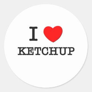 私はケチャップを愛します ラウンドシール
