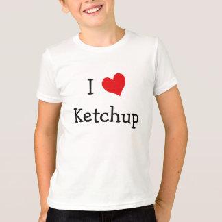 私はケチャップを愛します Tシャツ